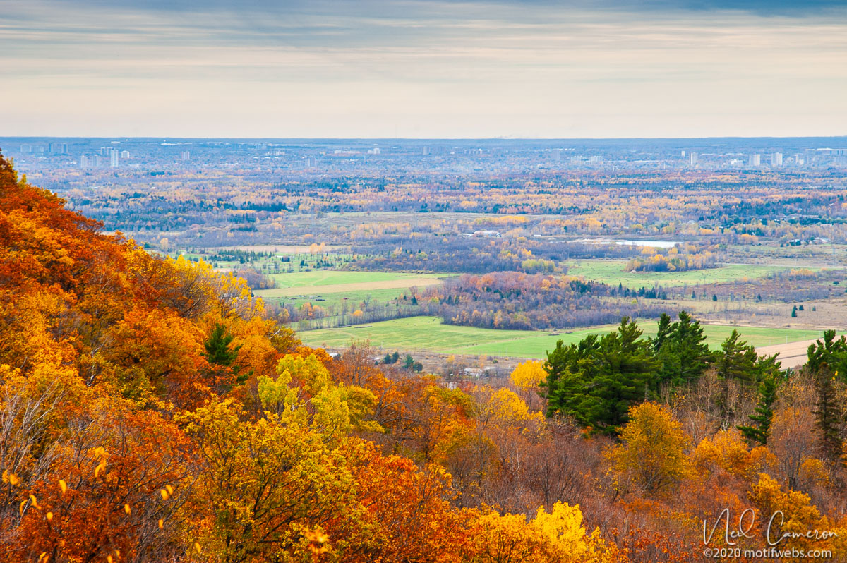 Ottawa from Gatineau Park in Fall