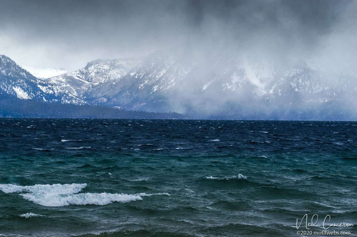 Snowstorm, Lake Tahoe, California
