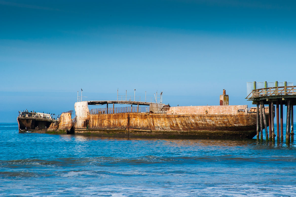 The Cement Ship, Rio del Mar beach, California