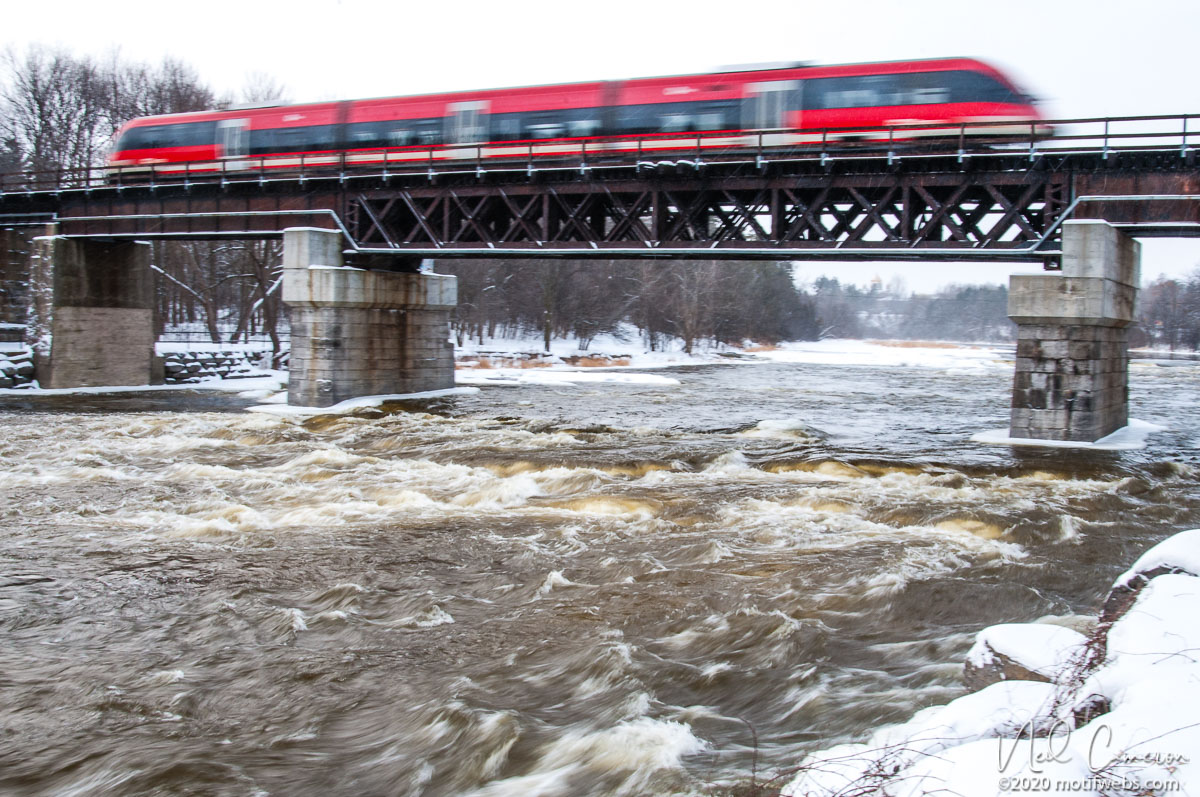 The O Train crossing the Rideau River, Ottawa