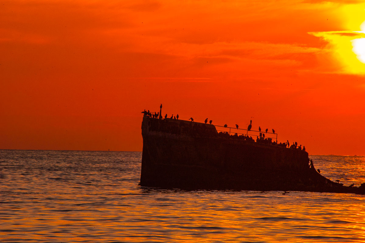 The Cement Ship, Rio Del Mar Beach, California, USA