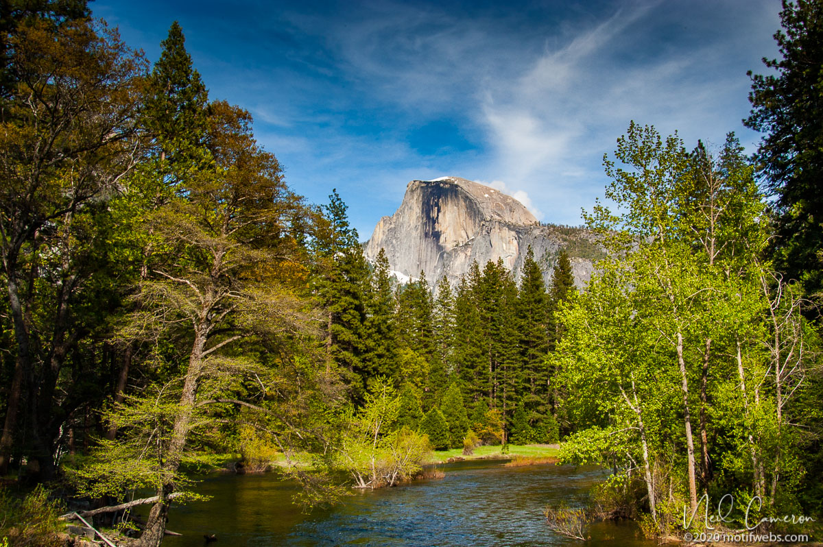 Half Dome and the Merced River, Yosemite National Park, California, USA